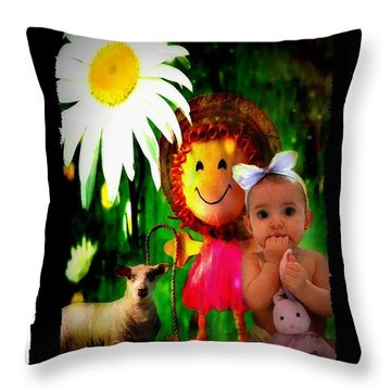 Lullaby Throw Pillow by Veronica Ventress