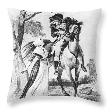 Lydia Darragh, American Patriot Throw Pillow by Photo Researchers