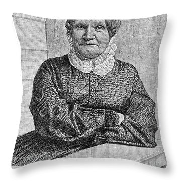 Lydia Maria Child (1802-1880) Throw Pillow by Granger
