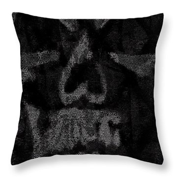 Macabre Skull Throw Pillow by Roseanne Jones