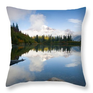 Majesty Hidden Throw Pillow by Mike  Dawson