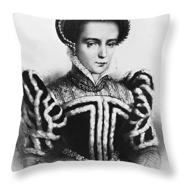 Mary I, Queen Of England And Ireland Throw Pillow by Omikron