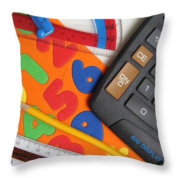 Mathematics Tools Throw Pillow by Photo Researchers Inc