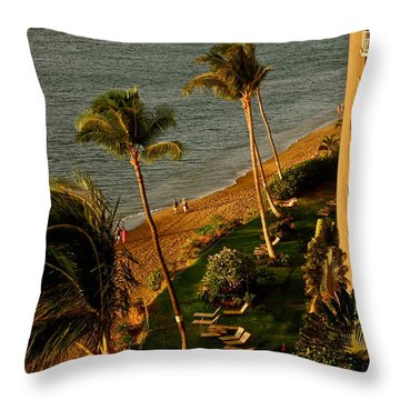 Maui Sunset Throw Pillow by Kirsten Giving