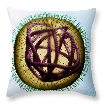 Measles Virus Throw Pillow by Omikron