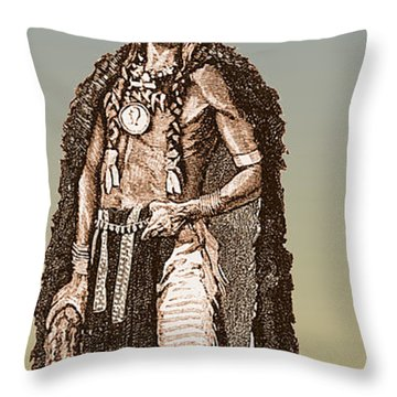 Medicine Elk Throw Pillow by Science Source