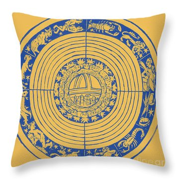 Medieval Zodiac Throw Pillow by Science Source