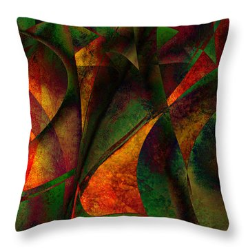 Merging Throw Pillow by Amanda Moore