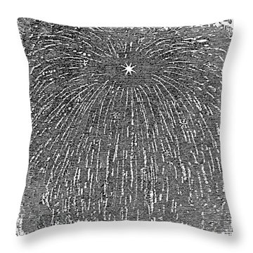 Meteor Shower, 1833 Throw Pillow by Granger