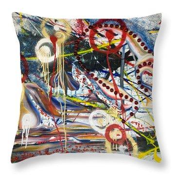 Metronomes Throw Pillow by Sheridan Furrer