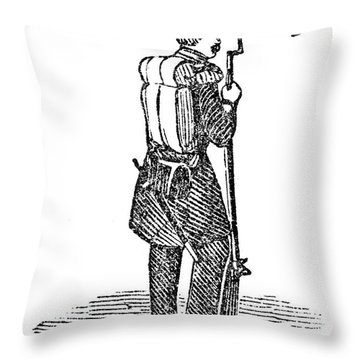 Mexican War: Soldier Throw Pillow by Granger