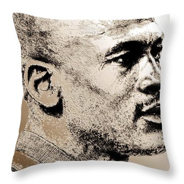 Michael Jordan In 1990 Throw Pillow by J McCombie