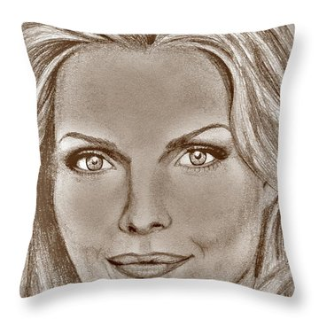 Michelle Pfeiffer In 2010 Throw Pillow by J McCombie
