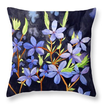 Midnight Blue Throw Pillow by Debi Singer
