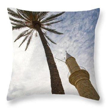 Minaret Throw Pillow by Stelios Kleanthous