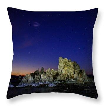 Mono Lake Big Dipper Sky Throw Pillow by La Rae  Roberts