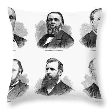 Mormon Apostles, 1877 Throw Pillow by Granger