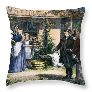 Mormon Wives, 1875 Throw Pillow by Granger