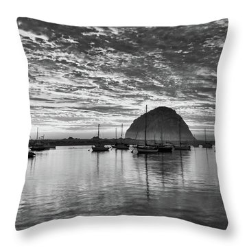 Morro Bay On Fire Throw Pillow