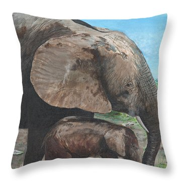 Mother Love Throw Pillow by Stuart B Yaeger