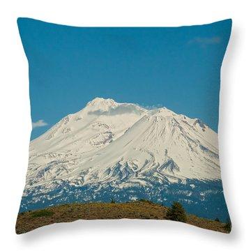 Mount Shasta Throw Pillow