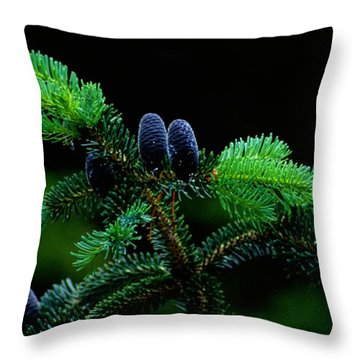 Throw Pillow featuring the photograph Mountain Life by Sharon Elliott