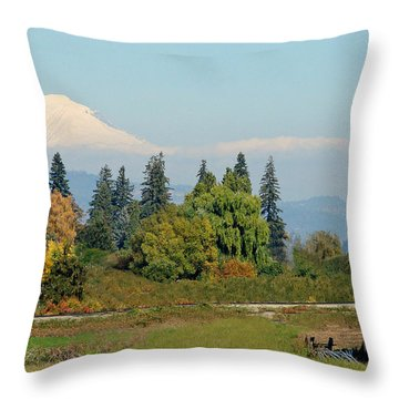 Mt. Adams In The Country Throw Pillow by Athena Mckinzie
