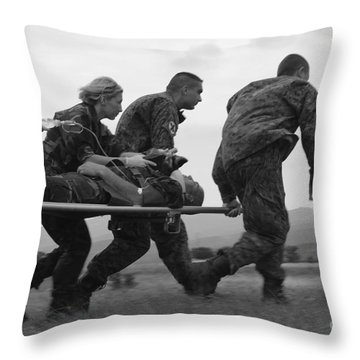 Multinational Medical Personnel Race Throw Pillow