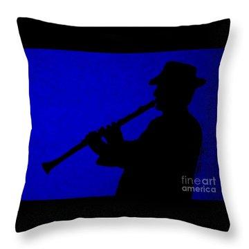 Music Man Throw Pillow by Julie Brugh Riffey