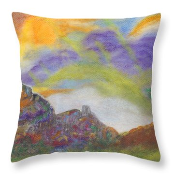 My Planet Throw Pillow by Mary Zimmerman