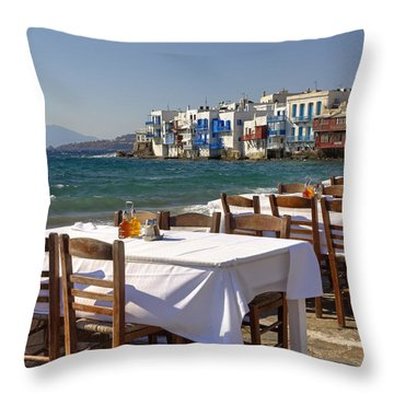 Mykonos Throw Pillow by Joana Kruse