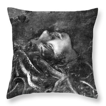 Mythology: Medusa Throw Pillow by Granger