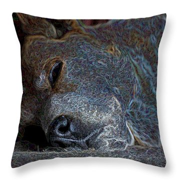 Nap Time Throw Pillow by One Rude Dawg Orcutt