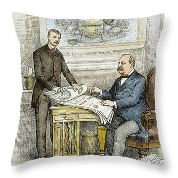 Nast: Civil Service Reform Throw Pillow by Granger