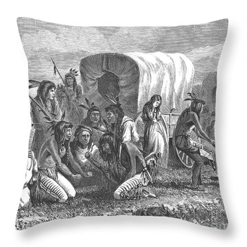 Native Americans: Gambling, 1870 Throw Pillow by Granger