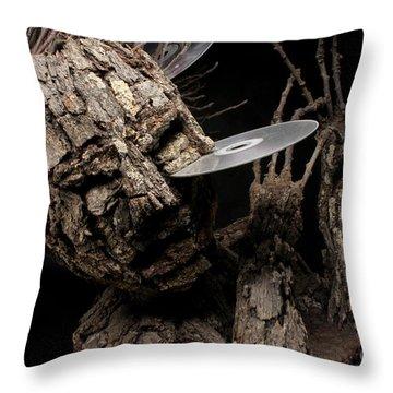 Net Damage Throw Pillow by Adam Long