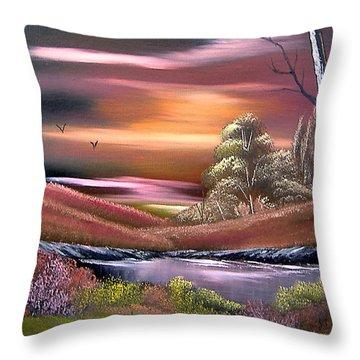 Neverland Throw Pillow by Cynthia Adams