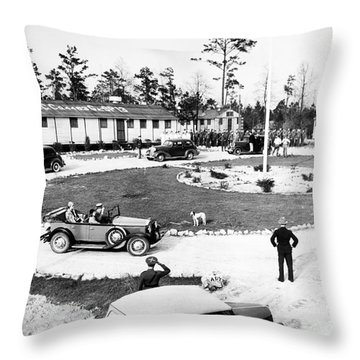 New Deal: C.c.c. Camp Throw Pillow by Granger