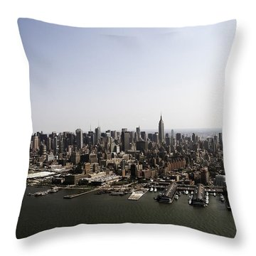 Throw Pillow featuring the photograph New York City by Paul Plaine