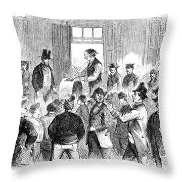 New York: Military Draft Throw Pillow by Granger