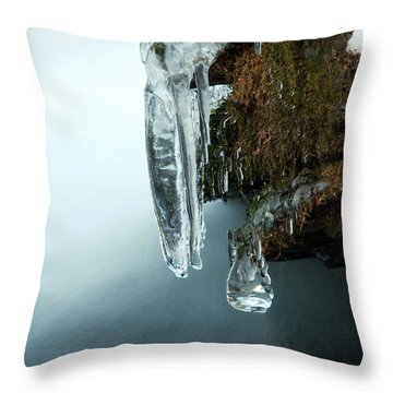 Of Ice And Water Throw Pillow by Darren Fisher