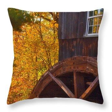 Old Mill Throw Pillow by Joann Vitali