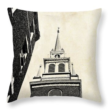 Old North Church In Boston Throw Pillow by Elena Elisseeva