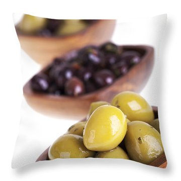 Olive Bowls Throw Pillow by Jane Rix