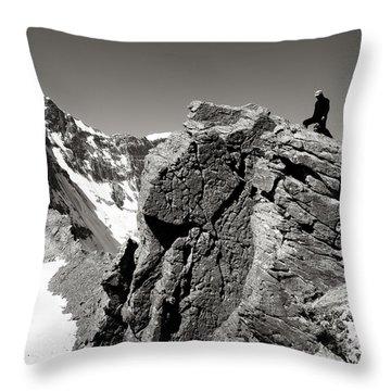 On The Rock Throw Pillow by Konstantin Dikovsky