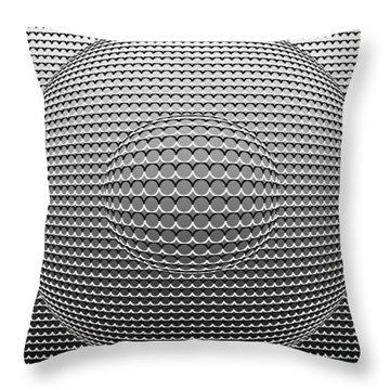 Optical Illusion Circle In Circle Throw Pillow by Sumit Mehndiratta