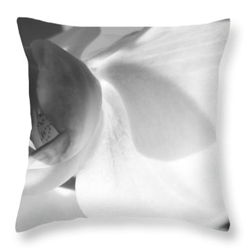 Throw Pillow featuring the photograph Orchid by Kume Bryant