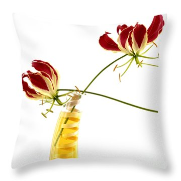 Orchids Throw Pillow by Bernard Jaubert