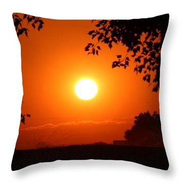 Throw Pillow featuring the photograph Oregon Sunset by Jo Sheehan