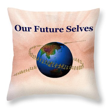 Our Future Selves Throw Pillow